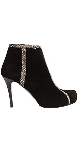 Alexander McQueen : OPTIC SNAKE TRIM BOOT