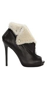Alexander McQueen : SHEARLING TRIM FAITHFUL BOOT
