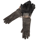 Alexander McQueen : FEATHER GAUNTLET GLOVES